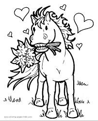 Free Horse Coloring Pages For Kids Pony Color Page