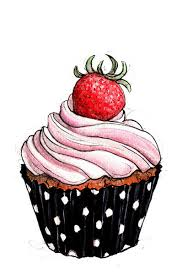 Observational drawing of a cupcake and it look s sooooo real