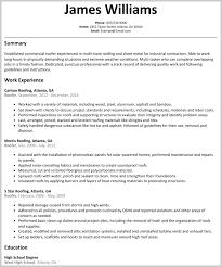 Example 15 Roofing Job Description Resume 165936 Resumes Twentyeandi