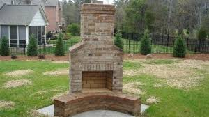 Diy Chiminea Enchanting How To Build A Brick Outdoor Fireplaces
