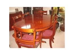 6 Seater SOLID Mahogany Extendable Dining Table And Chairs
