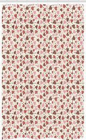 abakuhaus duschvorhang badezimmer deko set aus stoff mit haken breite 120 cm höhe 180 cm herzen pastell romantische muster kaufen otto