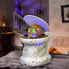 Motion Activated Outdoor Halloween Decorations by Gemmy Animated Haunted Toilet Halloween Decoration Walmart Com