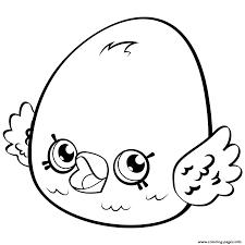Cute Egg Eggchic Shopkins Season 4 Coloring Pages