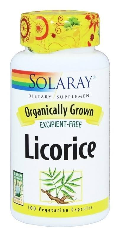 Solaray Organic Licorice Dietary Supplement - 450mg, 100 Capsules
