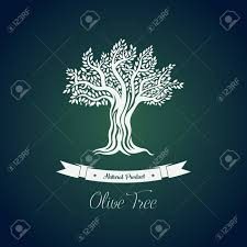Leaf on branches of olive oil tree vector drawing Greece olive tree for ve arian or
