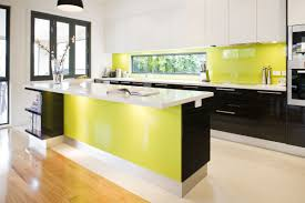 Lime Green And Yellow Kitchen Cabinets Modern
