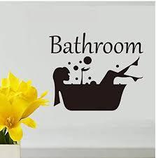 tossper kreative wand aufkleber schönheit badezimmer kunst aufkleber bade vinyl tür aufkleber kreative hauptdekoration