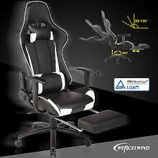 Reclining Gaming Chair With Footrest by High Back Executive Racing Gaming Chair Reclining Office Computer