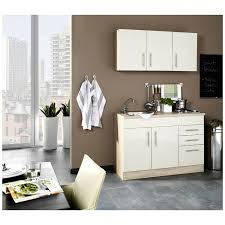 mini küche in hochglanz creme breite 120 cm teramo 03 b x h x t ca 120 x 200 x 60cm