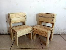 Chair Made From Pallets Wooden Pallet Kids Furniture Garden Set