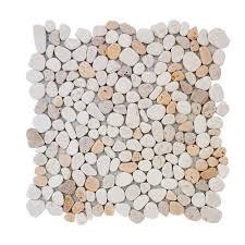 jeffrey court creama river rock mosaic 12 in x 12 in x 10 mm