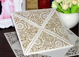 10 Sets Wedding Favors Rustic Invitations Laser Cut Invitation Cards With Insert Paper Blank Card