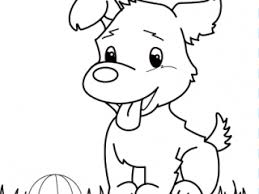 Puppy Coloring Book Pages For Kids Dog