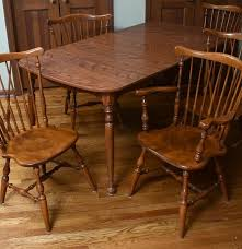 Ethan Allen Dining Room Table Leaf by Ethan Allen Dining Table And Chairs Ebth