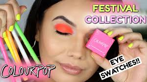 COLOURPOP FESTIVAL 2019 COLLECTION EYE SWATCHES! Huge Colourpop Haul Lipsticks Eyeshadows Foundation Palettes More Colourpop Blushes Tips And Tricks Demo How To Apply A Discount Or Access Code Your Order Colourpop X Eva Gutowski The Entire Collection Tutorial Swatches Review Tanya Feifel Ultra Satin Lips Lip Swatches Review Makeup Geek Coupon Youtube Dose Of Colors Full Face Using Only New No Filter Sted Makeup Favorites Must Haves Promo Coupon