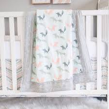 Nursery Crib Bedding Sets U003e by Woodland Fox 3 Pc Crib Set U2013 Sweet Kyla