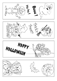 Halloween Bookmark Coloring Page