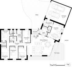 plan de maison plain pied 4 chambres plan maison plain pied en v ooreka