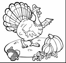 Brilliant Thanksgiving Turkey Coloring Pages With Color Page And Pdf