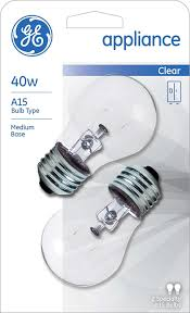 ge lighting 76579 appliance 40 watt 415 lumen a15 light bulb with