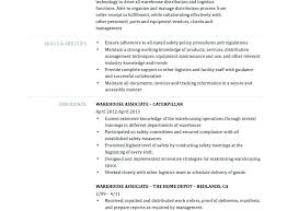 Sample Skills Resume Warehouse Worker Resumes For Jobs Examples Of Job Description Res