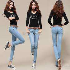Hot Fashion Sexy Lady Jean Womens Skinny Slim Capris Cheap Jeans For Women Denim Designer Casual Girl Long Pant