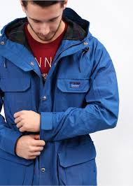 penfield kasson hooded parka cobalt blue