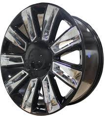 100 Black And Chrome Rims For Trucks 22 INCH RIMS ESCALADE SUV ESV PLATINUM BLACK CHROME INSERTS SIERRA