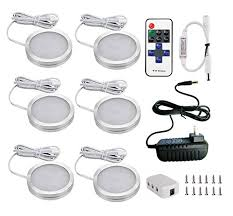 xking 6 puck lights led wireless kitchen cabinet lighting