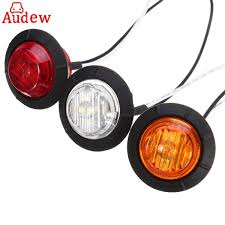 100 Truck Marker Lights 2Pcs Car 175 LED Round Side 12V Trailer Clearance Lamp Waterproof For Car SUV Trailer