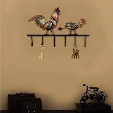 100 Decorated Wall Amazoncom Crafia Mounted Rooster Shape Iron Key