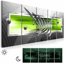 wandbilder abstrakt grün grau leinwand bilder wohnzimmer