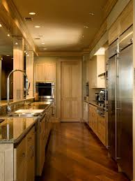 fabulous galley kitchen lighting houzz of find your home
