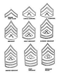 Celebrating Veterans Day With Enlisted Men Badges Coloring Page