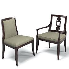 Baker Dining Chairs Upholstered Chair Contemporary Arm Armchair Room Furniture For Sale
