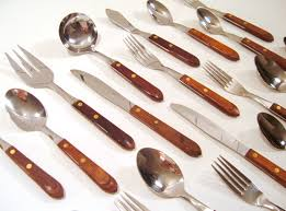 36pc Washington Forge Flatware Set, Wood Handle Stainless Flatware ... Storage Bins Pottery Barn Metal Canvas Food Gold Flatware Set Cbaarchcom Ikea Mobileflipinfo Setting A Christmas Table With Reindeer Plates Best 25 Rustic Flatware Ideas On Pinterest White Cutlery Set Caroline Silver20 Piece Service For The One With The Catalog And Winner Yellow Woodland Fall By Spode Fall Smakglad 20piece Ikea Ideas For Easter Brunch Fashionable Hostess