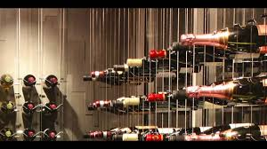100 Wine Rack Hours Toronto Modern Cellar Featuring Cable System Basement Design With Increased Horizontal Spacing