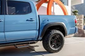 100 Truck Wheels And Tire Packages VENOM REX VR602 Coal Black Rims