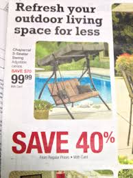 Frys Marketplace Patio Furniture by Frys Kroger 3 Seat Swing W Canopy 99 99 Good Until Tuesday