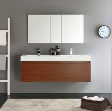 Teak Bathroom Shelving Unit by Fresca Mezzo 60