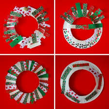 Paper Plate Christmas Wreaths
