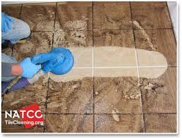 how professional contractors steam clean tile and grout