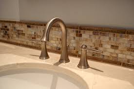 Splash Guard Kitchen Sink by Picturesque Glass Tile Back Splash In Bathroom With Mosaic Glass