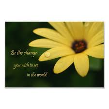 Inspirational Quote Daisy Flower Photograph Print