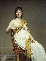 Detail Of Portrait Madame Raymond Verninac By Jacques Louis David