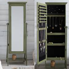 Belham Living Locking Cheval Mirror Jewlery Armoire