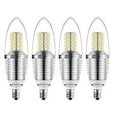 set of 4 led bulbs e12 candelabra base 85 to 100w equivalent white