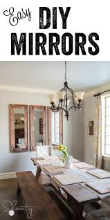 DIY Rustic Wall Mirrors Made From Cheap Plastic Framed Full Length Walmart Target Ect Dining Room