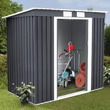 Metal Storage Sheds Amazon by Amazon Com Goplus 4 U0027 X 7 U0027 Outdoor Storage Shed Garden Sliding